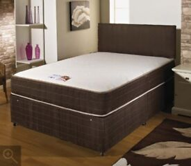 SAME/NEXT DAY CASH ON DELIVERY- BRAND NEW DOUBLE /KING DIVAN BED BASE WITH SUPER ORTHOPEDIC MATTRESS