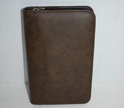 Day-timer Portable Size Planner Organizer Brown Full Zip 8-58 X 5-34