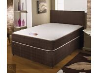 🔥STARTING FROM £39🔥NEW Double/King Divan Bed Base/With 10 INCH Ambassador Orthopaedic Mattress 119