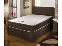 🔴🔵 CHEAPEST PRICE GUARANTEED🔴🔵 Brand New Double, Small Double Divan Bed with Orthopedic Mattress
