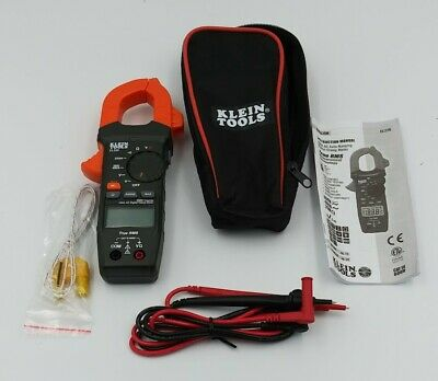 Klein Tools Cl220 400 Amp Ac Auto-ranging Digital Clamp Meter W Leads Case