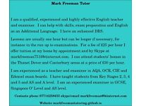 English Tuition by skype and in Kent
