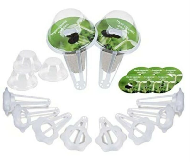 Moistenland Kit.  Use with Aerogarden.  50 Baskets, 50 labels & 50 domes. NEW