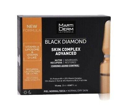2 Cajas!!Martiderm Ampollas Black Diamond Skin Complex 10 Uds