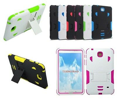 "For Samsung Galaxy Tab 4 8.0""/ 8-inch T337 Tablet Armor Rugged Cover Hard Case"