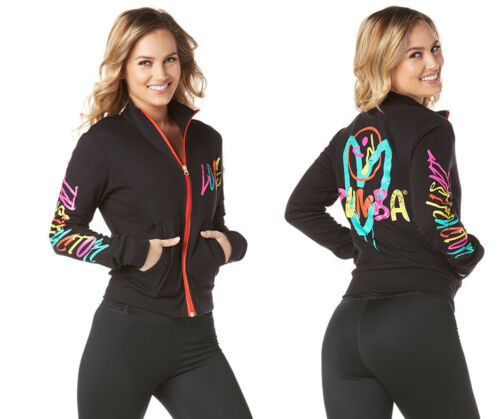 ZUMBA Be About Love Instructor Jacket Zip Up  -Bold Black Z1T01760