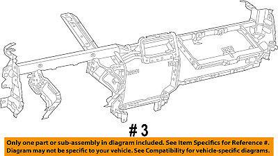Ram CHRYSLER OEM 13-14 3500 Dash-Impact Bar Rebar Reinforcement Beam 68196633AA