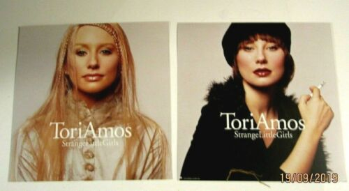 Tori Amos Lot of 2 Promo 2-sided Flats /posters