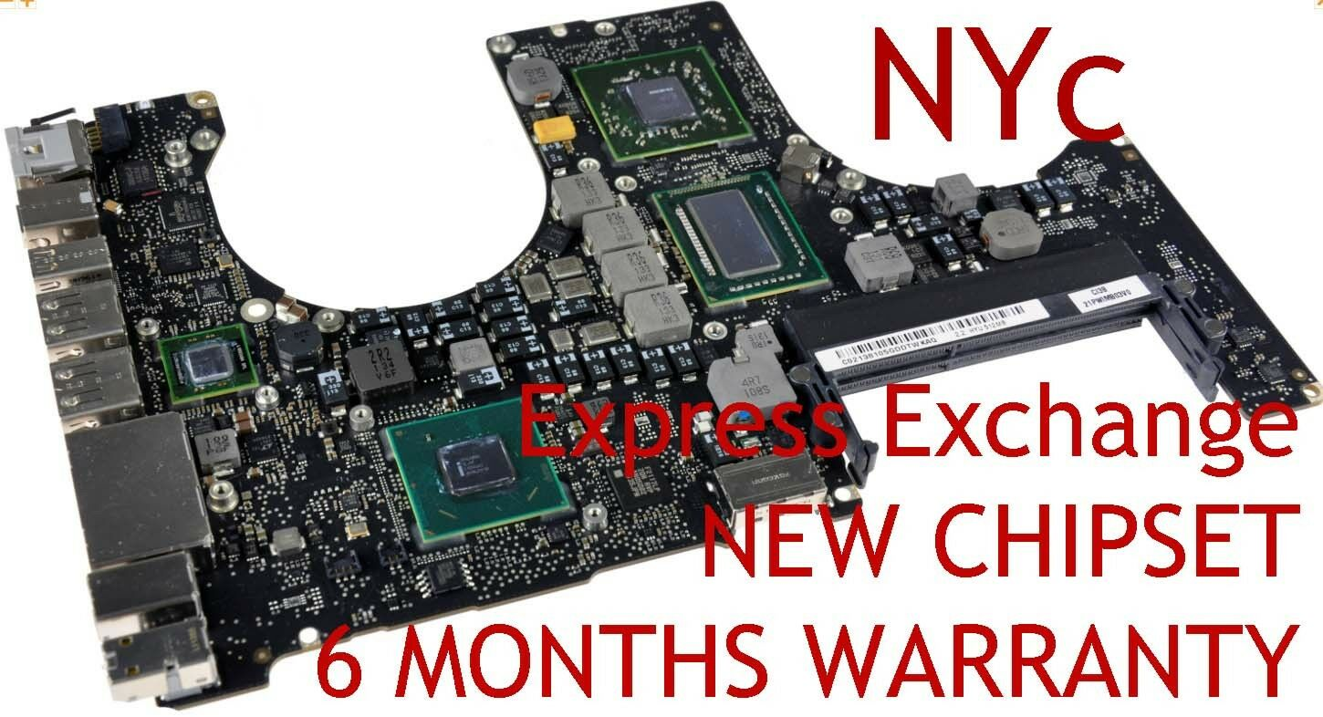 Купить EXCHANGE MACBOOK PRO 15 A1286 820-2915-B 2011 LOGIC BOARD REPAIR NEW GPU REBALL