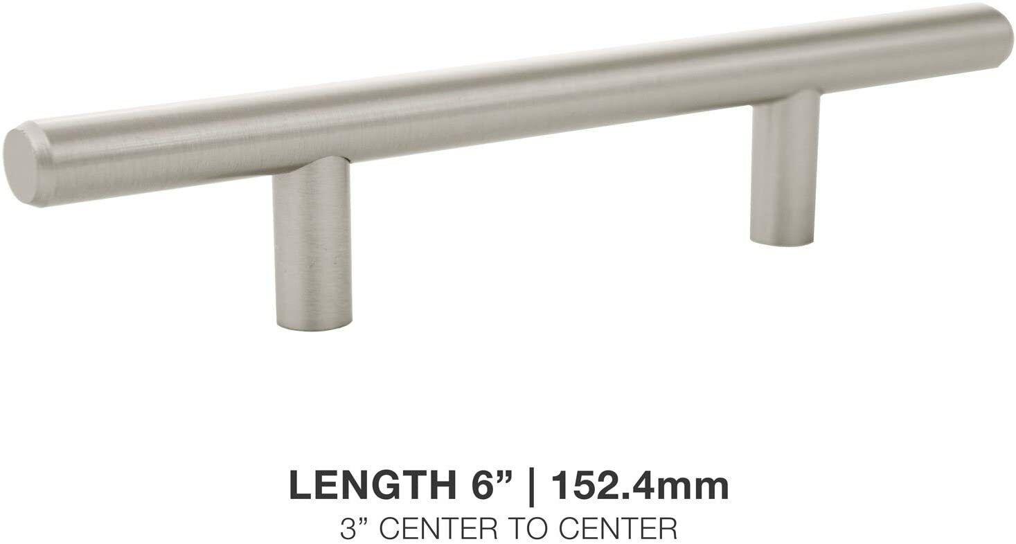 6″ Euro Bar Pulls Kitchen Cabinet Hardware 3″ Hole Center Stainless Steel Finish Building & Hardware