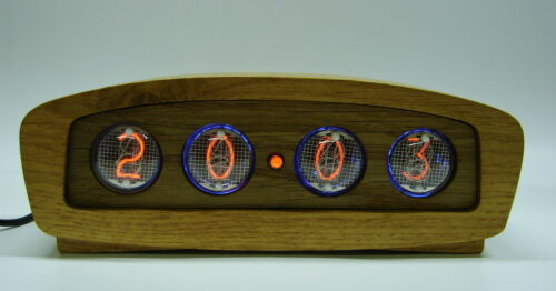 Wooden nixie clock - IN4 tube, RGB-multicolor backlight