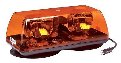 """ECCO Halogen Rotating Amber 15"""" Mini Light Bar Vacuum Magnetic Mount 5315A-VM"""