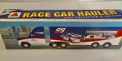 New in Box 2001 Collector's Edition CITGO Race Car Hauler #99 Jeff Burton Nascar
