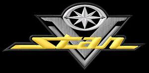 Yamaha V Star 650 XVS Classic 1100 Silverado Parche bordado Thermo-Adhesiv patch - <span itemprop=availableAtOrFrom>Poznan, Polska</span> - Zwroty są przyjmowane - Poznan, Polska