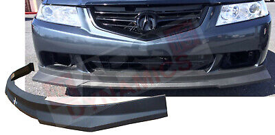 HC1 Carbon Print Style Front Lip for 2004 2005 Acura TSX  Polyproplyene