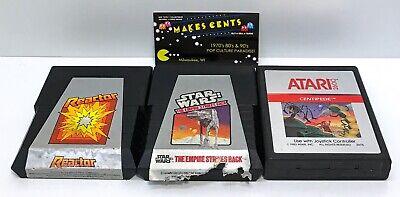 "Lot Of 3 - Atari 2600 Games ""Star War Empire Strikes Back"" ""Reactor"" ""Centipede"""