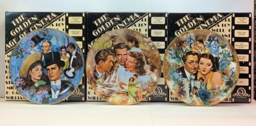 """3 COLLECTOR PLATES FROM 1978 GOLDEN AGE OF CINEMA SERIES: """"Gigi,"""" """"Thin Man"""" & 1"""
