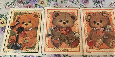 Vintage 1985 MORGAN  Tattered Teddys PORTFOLIO folders BACK TO SCHOOL