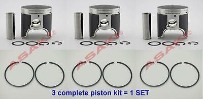 For YAMAHA 1200 GP1200R XLT1200 PV Piston Kit (47-407 66V-11631-00 STD+Ring) X3