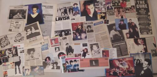 THE CURE Huge Vintage Collection of Cuttings & Clippings Robert Smith New wave