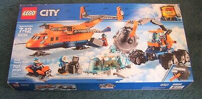 Lego City Town Arctic Supply Plane 60196 NEW Building Set Saber Tooth Tiger