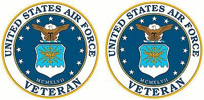 2 United States Air Force Veteran Window Decal Sticker