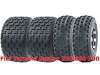 21x7-10 /& 20x10-9 New TG EOS ATV TIRE SET Yamaha Raptor 660 700 All 4 Tires
