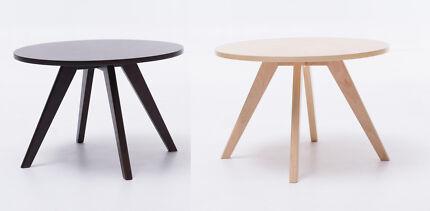 Plywood Coffee Table Natural/Dark Brown 60x60x40cm