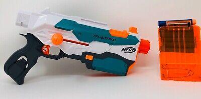 Nerf Modulus Tri-Strike Core Blaster Dart Gun with Ammo Clip and 6 Darts