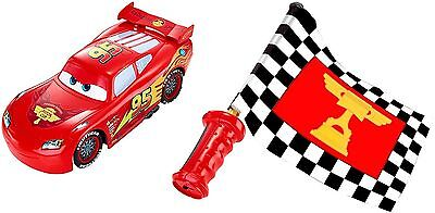 (Disney Cars Flag Finish Lightning McQueen Car Ages 4+ New Toy Boys Race Track)