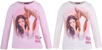 Miss Melody Sweatshirt 84009 Langarm Pferd weiß/rosa 104,128Auswahl NEU TOP ()