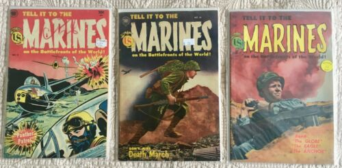 Golden Age Lot/3  TELL IT TO THE MARINES #9 VG 10 VG 11 VG+