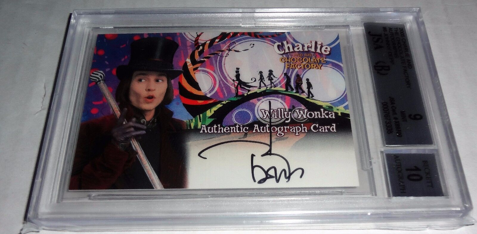 JOHNNY DEPP JSA BGS Graded 9 MT Authentic Autograph Signature Chocolate Pirates