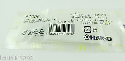 1pc New A1006 1.3mm Dia Leader-free Solder Tip For Hakko 802 808 809 807 817