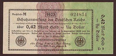 Ro.142a 0,42 Mark Gold = 1/10 Dollar 1923 (2)