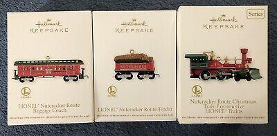 Hallmark Keepsake Ornaments - Lionel Nutcracker Route Train Set of 3 - NEW