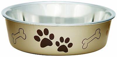 Loving Pets Metallic Bella Bowl Dog Bowl, Extra Large, Champagne