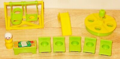 Vintage Fisher Price Little People 923 Play Family School House Accessories