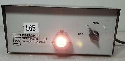 Fiberoptic Specialties Transformer Fiber Optic Light Source 50w.2