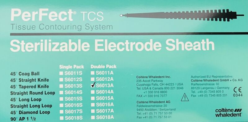 PerFect TCS Sterilizable Electrode Sheath Tissue Removal 45° Tapered Knife 2/Pk