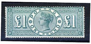 GB Queen Victoria 1891 One Pound ( £1 ) Green  SG 212  (Spec. K17)  MINT