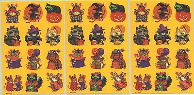 3 Sheets Adorable Halloween Fall Animals in Costumes - Animals In Costumes