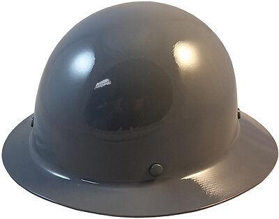 Msa Gray Skull Gard Fiberglass Fb Hard Hat With Ratchet Or Pin Lock Susp