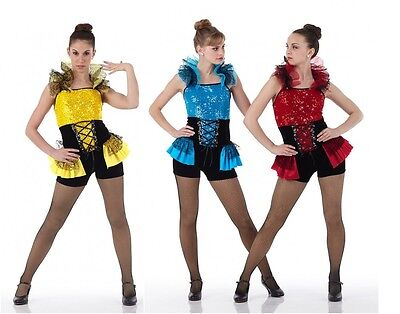 Jazz Tap Dance Costume Can Can Jester TROUBLEMAKER Child & Adult Sizes (Baby Jester Costume)