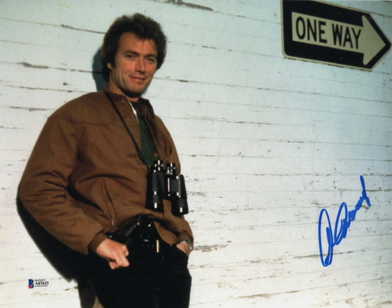 CLINT EASTWOOD SIGNED AUTOGRAPH 11x14 PHOTO - RARE IMAGE, MOVIE ICON, BECKETT