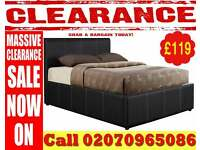 BRAND NEW DOUBLE/KINGSIZE GAS LIFT STORAGE OTTOMAN LEATHER BED FRAME AND MATTRESS