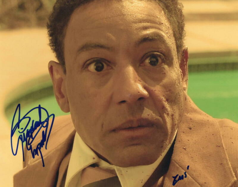 GIANCARLO ESPOSITO SIGNED 8X10 PHOTO BREAKING BAD GUSTAVO GUS PROOF COA D