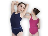 Navy & Mulberry Roch Valley sleeveless leotards & matching belts