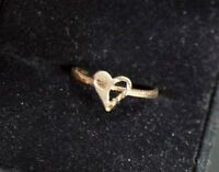 Vintage That 70s Style 10 KT YELLOW GOLD SWEETHEART RING Sz 5.5