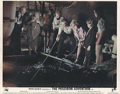 THE POSEIDON ADVENTURE  lobby card print  GENE HACKMAN, SHELLY WINTERS #6